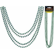 Green Bead Necklace (32in) Pk 4