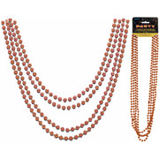 Orange Bead Necklace (32in) Pk 4