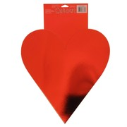 Card Night Party Decoration - 21in Foil Heart Cutout Pk1