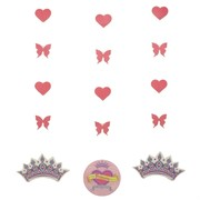 Princess Party Decoration - Hanging Cutouts Her Highness Pk3