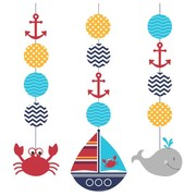 Ahoy Matey Hanging Cutout Decorations Pk 3