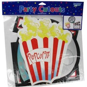 Party Decoration - Assorted Lights Camera Action Cutouts Pk3 (Assorted Designs)