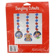 Decoration Dangling Cutouts Big Top Birthday Pk3