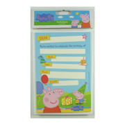 Peppa Pig Invitations with Envelopes Pk 8