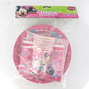 Minnie Mouse Party Pack for 8 People Pk 40 (8 Cups, 8 Plates, 8 Loot Bags & 16 Napkins)