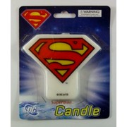 Superman Flat Candle Pk 1