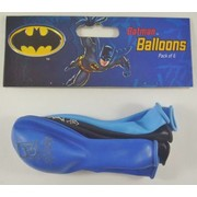 Assorted Batman Latex Balloons Pk 6 (2 Dark Blue, 2 Light Blue & 2 Black)