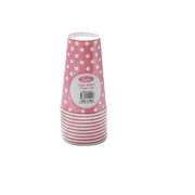 Pink Milkshake Cups with White Polka Dots Pk 10