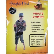 Zombie Pirate Child Costume Pk 1 (Large)