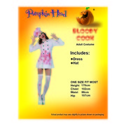 Adult Bloody Cook Costume Pk 1 (Dress and Hat Only)