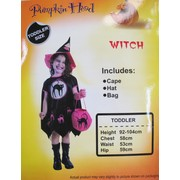 Little Witch Pink Toddler Set (Cape, Hat and Bag ONLY) Pk 1
