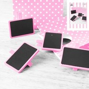 Mini Pink Blackboards Pk 4