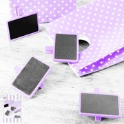 Mini Lavender Blackboards Pk 4