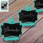 Teal Mini Blackboards Pk 3 (Chalk Not Included)
