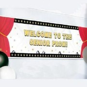 Giant Hollywood Party Banner (Customisable) 165x50cm Pk 1