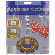 Casino Party Decoration - Dangling Casino Cutouts (30inch) Pk3