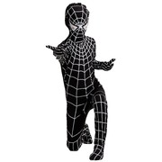 Child Black Spider Boy Costume (Large, 142cm-152cm) Pk 1
