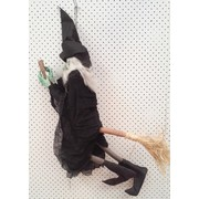 Animated Witch on Broomstick Decoration (90cm) Pk 1