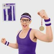 Purple Head and Wristband Set (3 Pieces) Pk 1