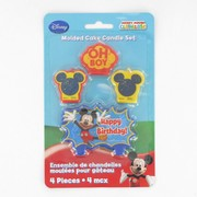 Mickey Mouse Party Candles - Moulded Pk4 (Assorted Designs)