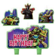 Teenage Mutant Ninja Turtles Moulded Candle Set Pk 4 (Assorted Designs)