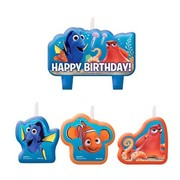 Finding Dory Moulded Candle Set Pk 4