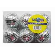Disco Mirror Ball (6cm) Pk 6