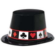 Casino Plastic Top Hat Pk 1