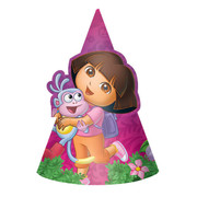 Dora the Explorer Party Hats Pk 8