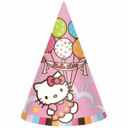 Hello Kitty Party Hats Pk 8
