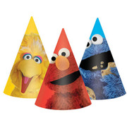 Sesame Street Party Hats Pk 8 (Assorted Designs)