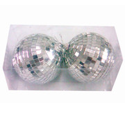 Disco Mirror Ball (10cm) Pk 2