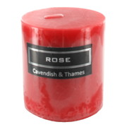 Red Rose Scented Pillar Candle (7x7.5cm) Pk 1