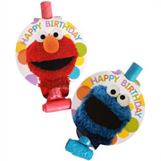 Sesame Street Blowouts Pk 8 (2 Designs, 4 of each)