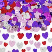 Multi Embossed Hearts Confetti Pk 1