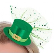 St Patrick's Day Mini Clip-On Hat Pk 1