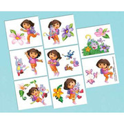 Dora The Explorer Tattoos (1 Sheet of 16 Tattoos)
