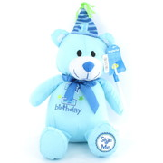 1st Birthday Blue Signing Bear Pk 1