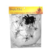 Stretchable Spider Web with 4 Spiders Pk 1