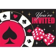 Casino Invitations (includes Envelopes and Save the Date Stickers) Pk 8