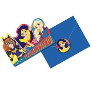 Super Hero Girls Invitations Pk 8