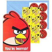 Angry Birds Invitations Pk 8
