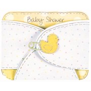 Baby Shower Diaper Invitations Pk8