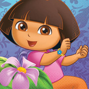 Dora The Explorer 2Ply Cocktail Napkins Pk 16