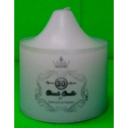 White Unscented Church Pillar Candle (7x7.5cm) Pk 1
