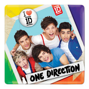 One Direction 7in Square Paper Plates Pk 8