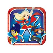 Super Hero Girls 7in. Square Paper Plates Pk 8