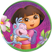 Dora the Explorer Paper Plates (7in-17cm) Pk 8
