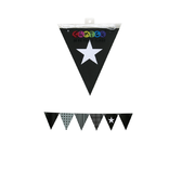 Black Party Flags Pk 50