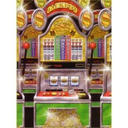 Casino Scene Setter Party Decoration - Slot Machine Room Roll (1.22x12.2m) Pk1